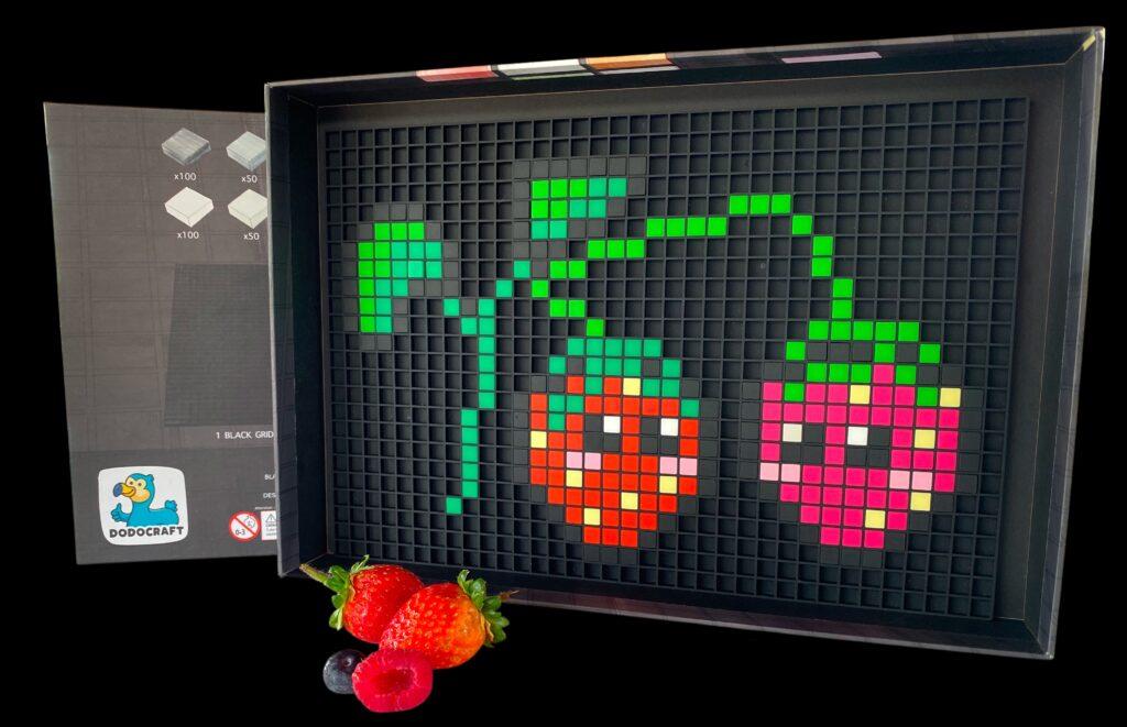 pixel art fraise dodocraft